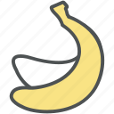 banana, food, fruit, nutrition, organic, plantain icon