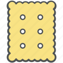bakery items, biscuits, cookie, food, snack icon