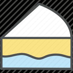 cake, cake piece, dessert, food, frozen dessert icon