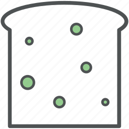 bread, bread slices, breakfast, food, sandwich, toast icon