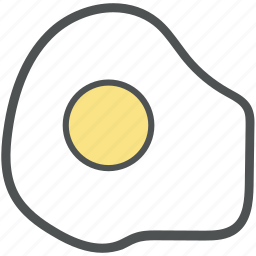 breakfast, egg, food, fried egg, healthy diet, protein icon