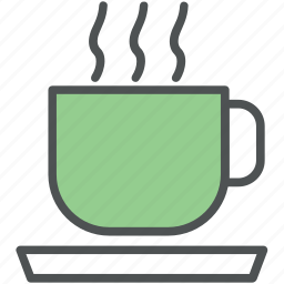 coffee, coffee cup, hot drink, hot tea, tea, tea cup icon
