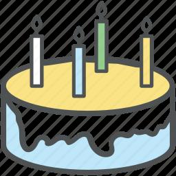birthday cake, cake, dessert, food, sweet icon