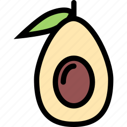 avocado, food, fruit, grocery store, meat, vegetable icon