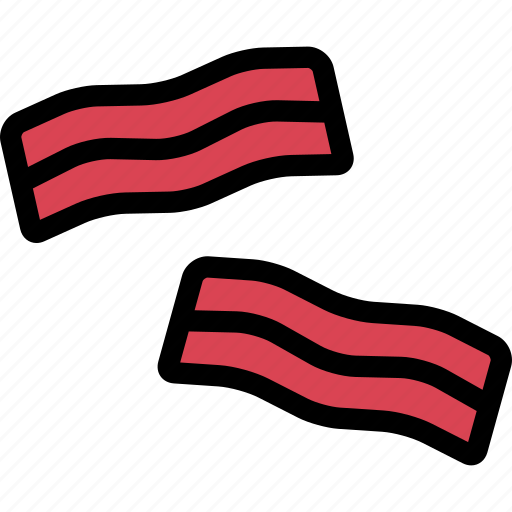 bacon, food, fruit, grocery store, meat, vegetable icon