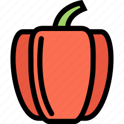 bell, food, fruit, grocery store, meat, pepper, vegetable icon