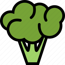 broccoli, food, fruit, grocery store, meat, vegetable icon