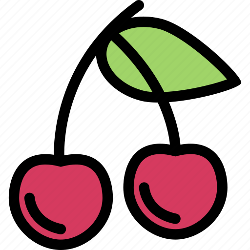 cherry, food, fruit, grocery store, meat, vegetable icon