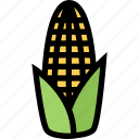 corn, food, fruit, grocery store, meat, vegetable icon