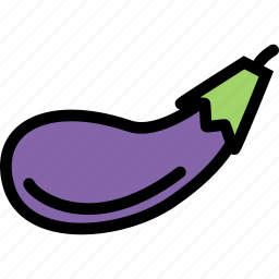 eggplant, food, fruit, grocery store, meat, vegetable icon