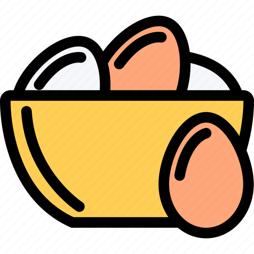 eggs, food, fruit, grocery store, meat, vegetable icon