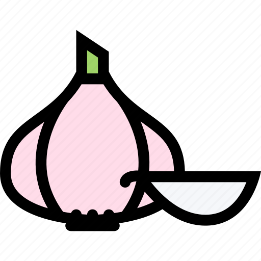food, fruit, garlic, grocery store, meat, vegetable icon