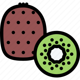 food, fruit, grocery store, kiwi, meat, vegetable icon