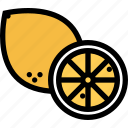 food, fruit, grocery store, lemon, meat, vegetable icon