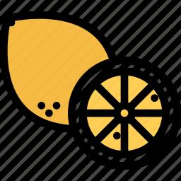 food, fruit, grocery store, lemon, meat, vegetable icon