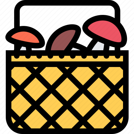 food, fruit, grocery store, meat, mushrooms, vegetable icon