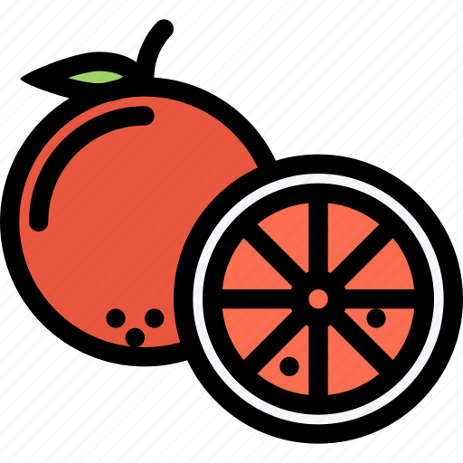 food, fruit, grocery store, meat, orange, vegetable icon