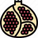 food, fruit, grocery store, meat, pomegranate, vegetable icon