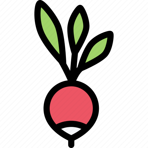 food, fruit, grocery store, meat, radish, vegetable icon
