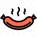 food, fruit, grocery store, meat, sausage, vegetable icon