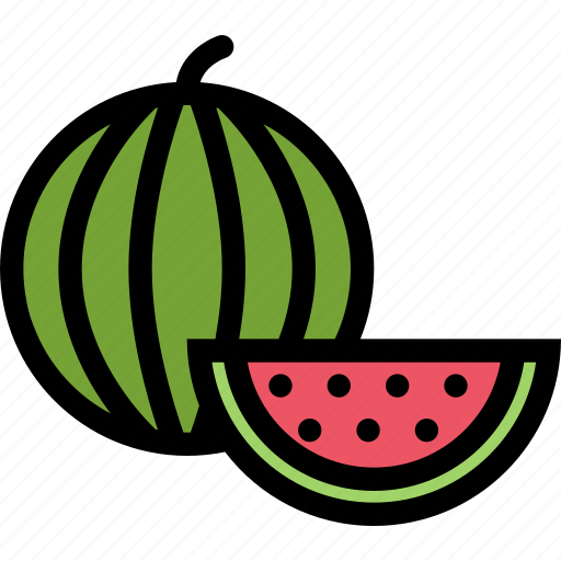 food, fruit, grocery store, meat, vegetable, watermelon icon