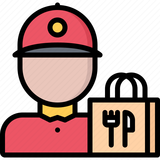 bag, courier, delivery, eat, food, restaurant icon