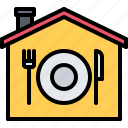 delivery, eat, food, house, restaurant icon