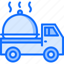 cloche, delivery, eat, food, restaurant, truck icon