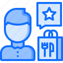 restaurant, rating, delivery, food, eat, cloche, review icon
