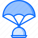 cloche, delivery, eat, food, parachute, restaurant icon