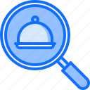 cloche, delivery, eat, food, restaurant, search icon