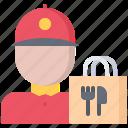 bag, courier, delivery, eat, food, restaurant