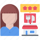 restaurant, rating, delivery, food, eat, review icon