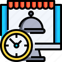 clock, computer, food, time, watch icon