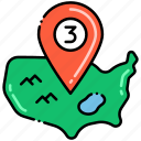 delivery, map, zone icon