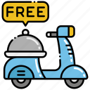 delivery, food, free icon