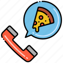 food, order, phone, pizza icon