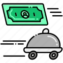 delivery, food, pay icon