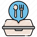 food, fork, included, utensils icon