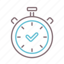 estimated, ready, time, timer icon