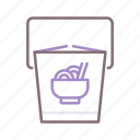 chinese, container, food, takeout icon
