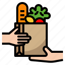 bag, delivery, food, ingredient, shopping