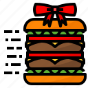 delivery, fast, food, gift, hamburger