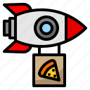 delivery, fast, food, pizza, rocket