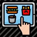 delivery, food, online, order, tablet