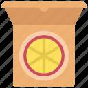 pizza, box, diet, takeout, takeaway icon