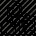avatar, menu, order, waitress, woman icon