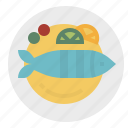 fish, food, fried, steak, steam icon