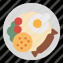 food, breakfast, rice, fried, restaurant