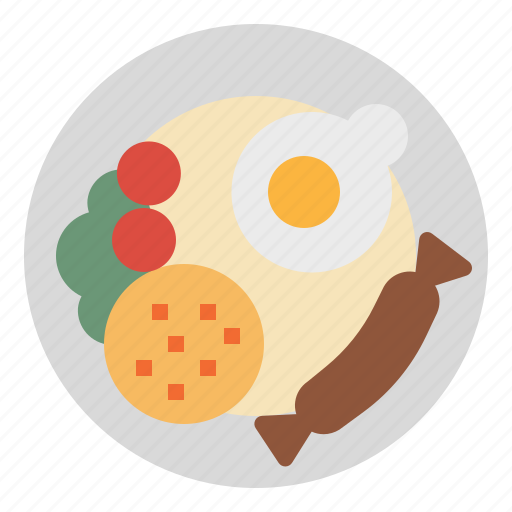 breakfast, food, fried, restaurant, rice icon